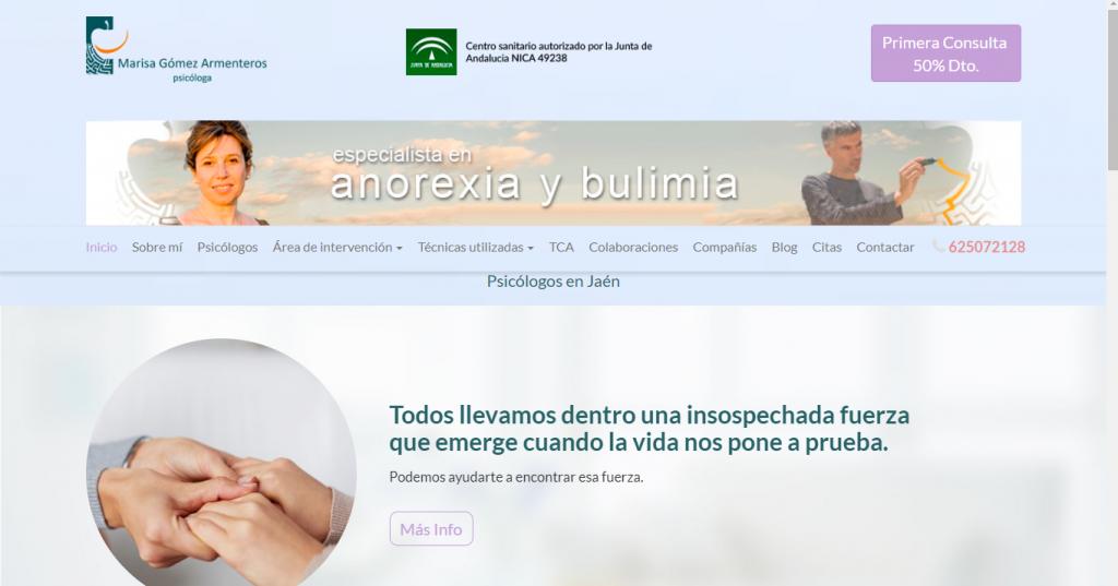 pagina web psicólogos en Jaén